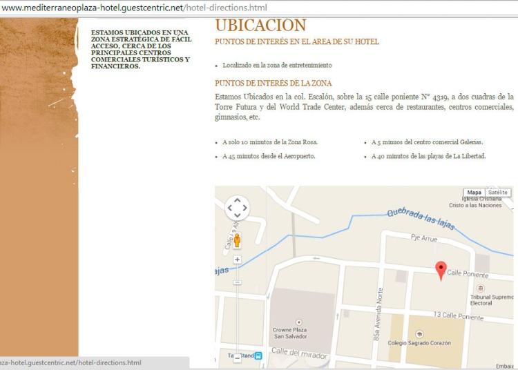 Mapa Hotel Mediterráneo Plaza